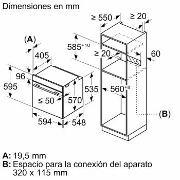 Horno Multifunción BALAY 3HB5888B0 Pirolítico Cristal Blanco   Termosonda   Control Deslizante   Bandeja Duo   Clase A - 6