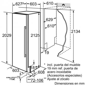 Siemens FI24NP31 Congelador Integrable de 212.5 x 60.3 cm iQ700   A+ - 2