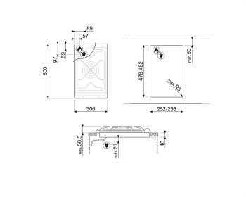 SMEG SRV531GH5 Placa de Gas Domino 30 cm Inoxidable con 1 Quemador | Envío Gratis - 2