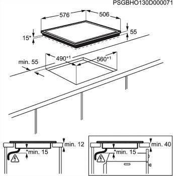 Placa de Inducción Mixta Zanussi ZEN6641XBA de 60 cm con 4 Zonas (2 inducción + 2 vitro) Marco acero inoxidable con anclaje easy-fix - 2