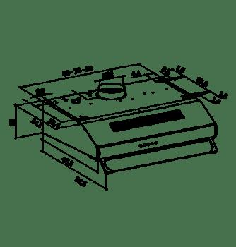 MEPAMSA MODENA 60 CAMPANA CONVENCIONAL BLANCA 400M3/H - 2