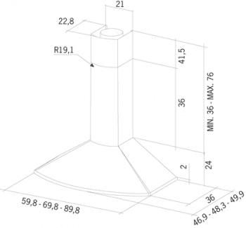 MEPAMSA TENDER H 60 CAMPANA NEGRO FUNDICION V2 705M3/H - 2