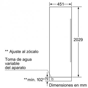 Siemens FI18NP31 Congelador integrable premium Coolmodul 212.5 x 45.1 cm | iQ700 | A+ - 2