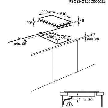 Placa Modular Zanussi ZEI3921IBA Inox de 29 cm con 2 Zonas de inducción Mandos frontales | STOCK - 5