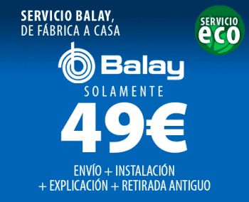 BALAY 3VS303BP LAVAVAJILLAS BLANCO 12 SERVICIOS 50dB A+ - 2