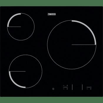 Placa Vitrocerámica Zanussi ZEV6330FBA de 60 cm con 3 Zonas Hi-Light Max 27 cm a 2700 W Anclaje easy-fix sin marco | Stock