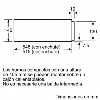 Siemens BI630CNS1 Módulo calentamiento 14cm Cristal Negro - 5