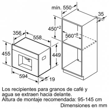Siemens CT636LEW1 Cafetera 100% Integrable Cristal Blanco | Promocionada - 7