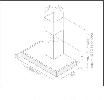 ELICA SPOT PLUS IX/A/60 CAMPANA INOX 60CM 625M3/H - 3