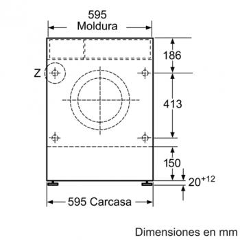 Siemens WK14D541EE Lavadora Secadora integrable de 7/4kg | 1400 rpm B | Promocionada - 4