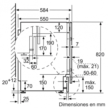 Siemens WK14D541EE Lavadora Secadora integrable de 7/4kg | 1400 rpm B | Promocionada - 5