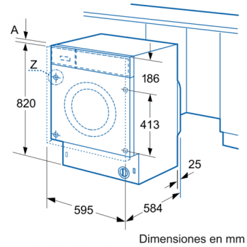 Siemens WK12D321EE Lavadora Secadora Integrable 7/4KG   1200RPM B   Promocionada - 4