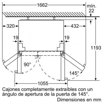 Siemens KA90DVI30 Frigorífico Americano 177 x 91 cm | Acero Inoxidable | iQ500 A++ | Promocionado | Envío + Instalación + Retirada Gratis - 3