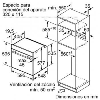Horno Microondas Multifunción Siemens HM633GBS1| Inoxidable iQ700 | Abatible | +10 funciones| Promocionado - 10