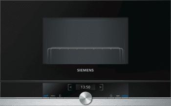 Siemens BE634RGS1 Microondas Inoxidable Cristal Negro 21L iQ700 | Apertura derecha | Promocionado