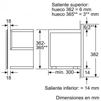 Siemens BF634RGS1 Microondas Cristal Negro | Apertura Derecha | 21L | Promocionado - 5
