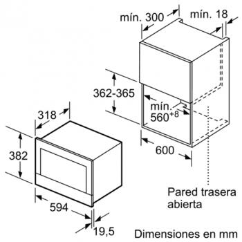 Siemens BF634RGS1 Microondas Cristal Negro | Apertura Derecha | 21L | Promocionado - 7