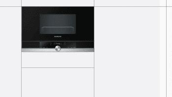 Siemens BF634LGS1 Microondas Cristal Negro | Apertura Izquierda | 21L | Promocionado - 2