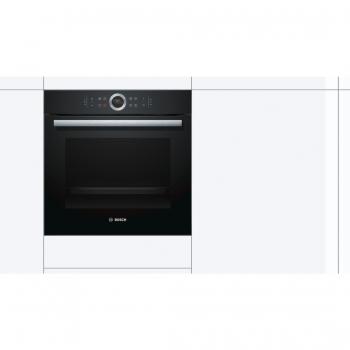 Horno Bosch HBG675BB1 Negro de 60 cm Multifunción Pirolítico con Calentamiento 4D Recetas Gourmet y Clase A+ | Serie 8 - 3
