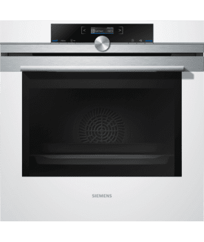 Horno Siemens HB673GBW1F Pirolítico Blanco de 60 cm | Recetas programadas cookControl | Clase A+ | iQ700