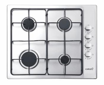 Placa de Gas Cata GI 6004 X Inox | 60cm | 4 Quemadores de gas | Gas Natural | Autoencendido | Válvula de seguridad | Stock - 1