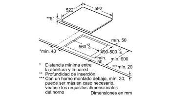 BALAY 3EB965LU INDUCCION 3 ZONAS MAX 28CM BISELADA | STOCK - 5