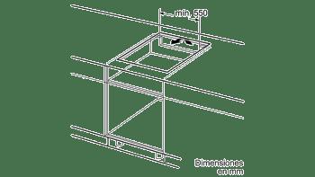 Placa de Inducción Balay 3EB865FR   60cm   3 Zonas - Max. 28 cm   Bisel delantero - 3