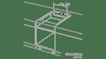 Placa de Inducción Balay 3EB865FR   60cm   3 Zonas - Max. 28 cm   Bisel delantero - 5