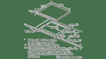 BALAY 3EB864XR INDUCCION 3 ZONAS MAX 24CM MARCO INOX - 5