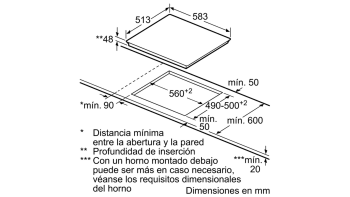 BALAY 3EB765XQ VITROCERAMICA 3 ZONAS MARCO INOX 60CM - 2