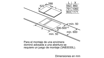 BALAY 3EB730LQ VITROCERAMICA 2 ZONAS 30CM - 3