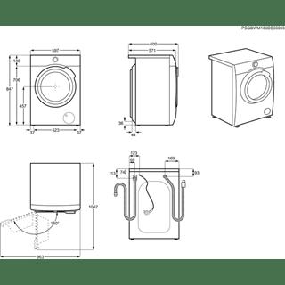 Lavadora Inverter AEG L7FEE841 Blanca de 8KG 1400rpm A+++ -30% | Tecnología ProSteam + ProSense | Serie 7000 - 11