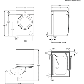 Lavadora AEG L6FBI821U Libre Blanca de 8 kg a 1200 rpm ProSense y clase A+++ | Serie 6000 - 9