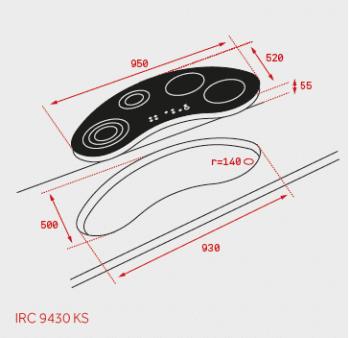 Placa de Induccion Teka IRC 9430 KS  (Ref. 10210162) | 95cm | 5 Zonas | Touch Control Slider - 2
