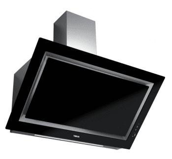 Campana decorativa vertical Teka DLV 98660 BK (112930029) en Cristal Negro, de 90cm a 696 m³/h | Función FreshAir  | Clase A+
