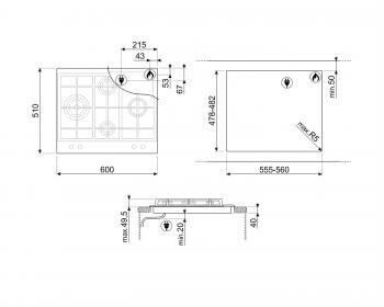 SMEG SLR64SGH Placa de Gas 60 cm Inoxidable con 4 quemadores | Envío Gratis - 4