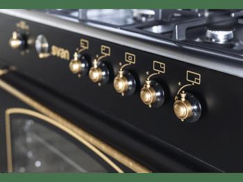SVAN SVK9561FN Cocina Rústica Gas Butano 90 cm Negra con 5 Fuegos - 2