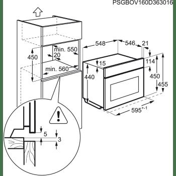 Horno Microondas AEG KMR721000B Compacto Cristal Negro Grill 1000W 46L 45 cm - 4