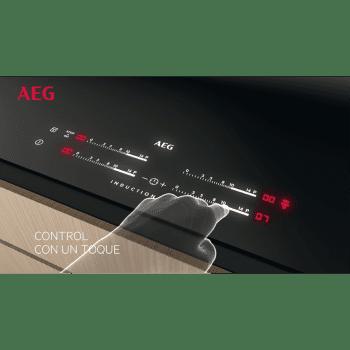 Campana Decorativa AEG DBB5960HM Inoxidable 90cm 779 m³/h | Super Silenciosa | Conexión Placa-Campana Hob2Hood | Pared | A - 5