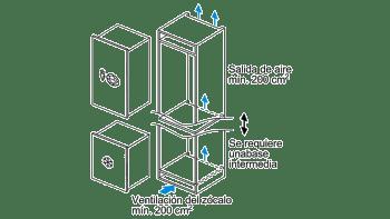 Congelador Integrable Balay 3GI1047S Instalación Bajo Encimera 72x56CM Cíclico | A++ - 4