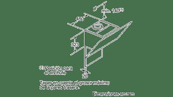 BALAY 3BC598GN CAMPANA INCLINADA CRISTAL NEGRO 90CM 840M3/H SERIE CRISTAL - 6