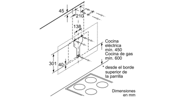 BALAY 3BC598GB CAMPANA INCLINADA CRISTAL BLANCO 90CM 840M3/H SERIE CRISTAL - 6