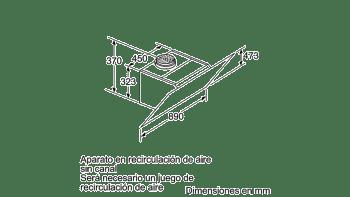 BALAY 3BC598GB CAMPANA INCLINADA CRISTAL BLANCO 90CM 840M3/H SERIE CRISTAL - 7