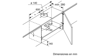 BALAY 3BT263MX CAMPANA TELESCOPICA INOX 60CM 360M3/H - 4
