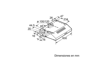 BALAY 3BH263MX CAMPANA CONVENCIONAL INOX 60CM 350M3/H - 3