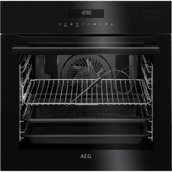 Horno Vapor AEG BSE782320B Cristal Negro | 71 L | 20 funciones de cocción, 3 a Vapor | Sonda térmica | Clase A+ - 1