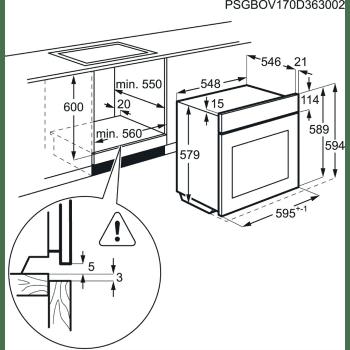 Horno Vapor AEG BSE782320B Cristal Negro | 71 L | 20 funciones de cocción, 3 a Vapor | Sonda térmica | Clase A+ - 5