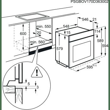 Horno Vapor AEG BSE782320B Cristal Negro   Mastery 180 Funciones l SteamBoost   Sonda térmica   Bandeja XL   A+ - 7