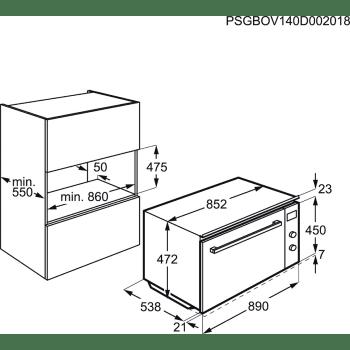 Horno Multifunción AEG KEK442910M Inox 90CM con Sonda Interior + SenseCook | Clase A - 5