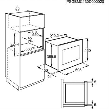 Microondas Integrable AEG MSB2548C-M Inoxidable, de 45 cm y 23 L, Función Horno a 900 W y Grill a 1100 W - 4